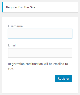 Default WordPress Login Form