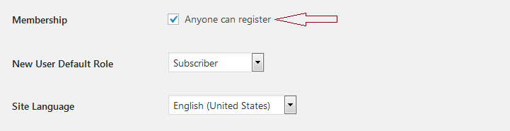 Enabling Registrations in WordPress