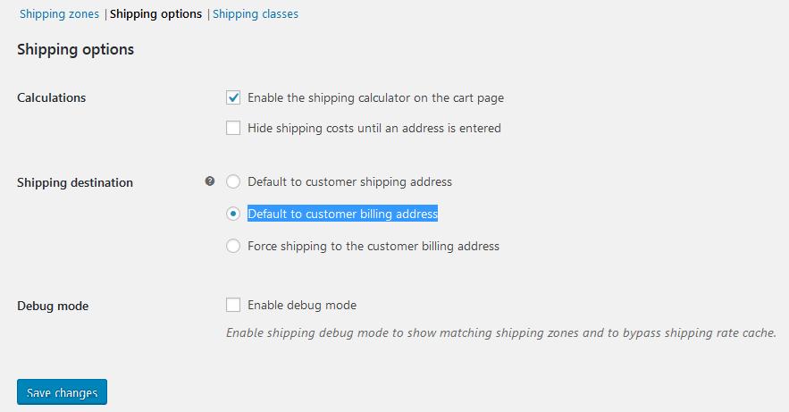 Default to customer billing address